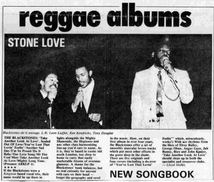 The Blackstones - Stone Love press cutting